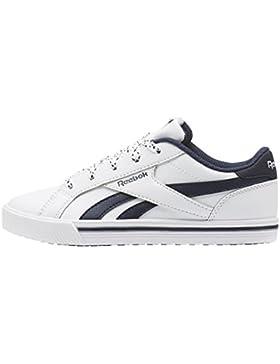 Reebok Royal Comp 2L, Zapatillas de Deporte para Niños, Blanco (White/Collegiate Navy 000), 33 EU