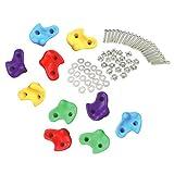 MagiDeal 10 Stück Kinder Kunststoff Klettergriffe Klettersteine mit Metall Schrauben Set für Kletterwand und Boulderwand - groß