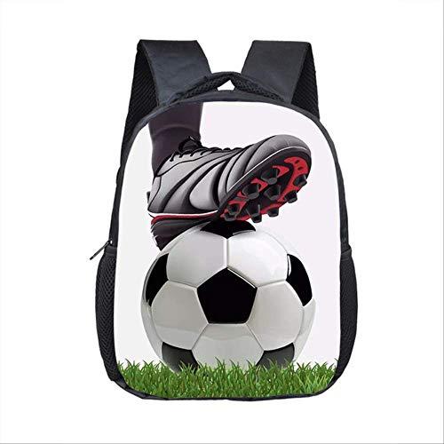 OFOO Schulranzen Fußball-Print Rucksack für Jahre alt Kinder Schulranzen klein Kleinkind Tasche Kindergarten Taschen 12Foot01 -