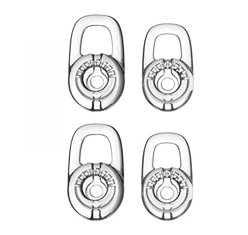 Feicuan L/M Replacement Eargels Earbuds Eartips für Plantronics Discovery 925 975, Marque M155 , Marque 2 M165 ,Savor M1100, M100 M55 M28 M25 Bluetooth Headset (Clear, Pack of 4) - Savor M1100 Bluetooth-headset