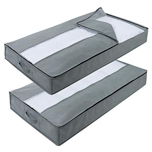 Lifewit 2 pezzi sacchetto di stoccaggio sotto letto pieghevole antipolvere impermeabile per coperte lenzuola indumenti cuscini riporre vestiti trapunta piumino