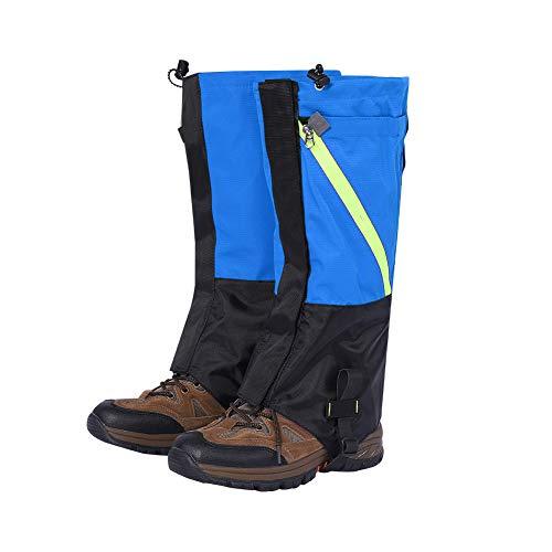 Tbest Gamaschen Wandern Wasserdicht Legging Gamaschen Legging Gaiters Wasserdichte Schneestiefel Gamaschen Lange Gamaschen für Outdoor Wandern(Royal Blue)