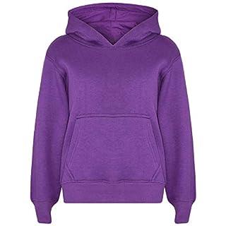 A2Z 4 Kids Kids Girls Boys Sweat Shirt Tops Casual Plain Pullover Sweatshirt - Plain Sweat Hoodie Purple 5-6