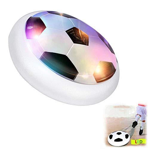 LegendTech Fußball Spielzeug Fußball Spiel Kinder Spielzeug Air Fußball Air Power Fußball Fussball Hover Ball Leistungsstarke LED-Licht und Schaum Stoßstangen Schwarz-Weiss -