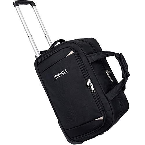 Borsa da viaggio pieghevole borsa da viaggio leggera da viaggio softshell impermeabile borsa da viaggio da viaggio con 2 ruote girevole per uomo e donna,black