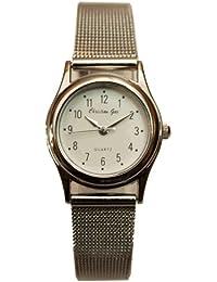Reloj analógico de señora Christian Gar - correa de malla metálica