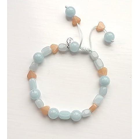 Lola Rose SS16 Kristel, decorata con 2 cuori di perline &-Braccialetto dell'amicizia in passeggini Oyster, colore: blu ghiaccio