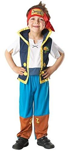 Disney Mädchen Jungen Izzy oder Jake und die Nimmerland Piraten Buch Tag Woche Halloween Kostüm Kleid Outfit - Jake, 104 (Kinder Jake Pirat Kostüm)