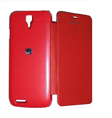 YGS Flip Case Cover For Micromax Canvas Juice A77 -Red  available at amazon for Rs.199