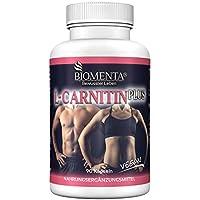 BIOMENTA L-CARNITIN PLUS | 1.000 mg L CARNITIN vegan + GUARANA + BITTERMELONE + CITRUS BIOFLAVONOIDE | 90 L Carnitin Kapseln