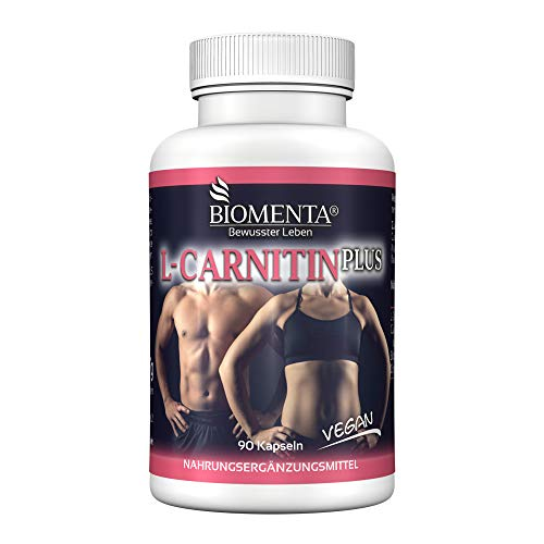 BIOMENTA L-CARNITIN PLUS | AKTIONSPREIS !!! | 1.000 mg L CARNITIN vegan + GUARANA + BITTERMELONE + CITRUS BIOFLAVONOIDE | 90 L Carnitin Kapseln