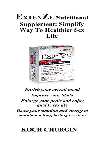 EXTENZE Nutritional Supplement: Simplify Way To Healthier Sex Life: Enrich your overall mood Improve your libido Enlarge your penis and enjoy quality ... energy to maintain a long lasting erection