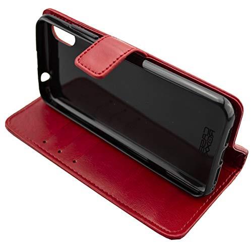 Coque pour Gigaset GS110, Bookstyle-Case Étui de Protection Antichoc pour Smartphone (Coque de Coloris Rouge)
