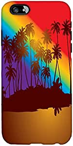 Snoogg Tropical Sunset Designer Protective Back Case Cover For Apple Iphone 6