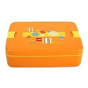 Cello Lunch Mate Air Tight Lunch Box, 3 Pcs, Orange