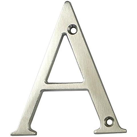 3inch sottile costiere Porta Lettera, lettera A per porta, in cromo satinato non Pit o ruggine anche a la costa