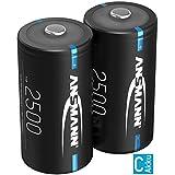 ANSMANN Akku C 2500mAh NiMH 1,2V - Baby C Batterien wiederaufladbar mit geringer Selbstentladung ideal für Kinderspielzeug, Taschenlampe, Radio (2 Stück)
