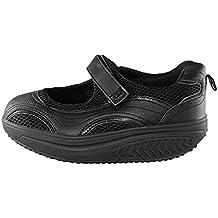 Zapatillas con forma de sandalias bailarinas abiertas y basculantes para tonificación de glúteos, bienestar, adelgazar, deporte y fitness