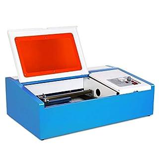 Morffa Laser Cutter 12x8 Inch Gravierbereich Laser Graviermaschine Laser Engraver 40W Co2 Laser für Kunsthandwerk mit USB Anschluss (USB 40W)