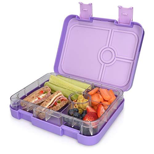 Große Box E-commerce (Navaris Lunchbox für Kinder 4 Fächer - Brotdose BPA frei mit Unterteilung Brotbox Dose für Kindergarten Schule - Bento Box in Violett)