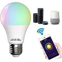 Bombilla inteligente, luces LED WiFi compatibles con Alexa, Google Home Wake-Up Hue