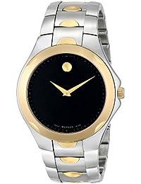 Movado Luno 0606381 Men's Two Tone Black Dial Watch