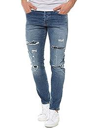 Jack & Jones Men's Glenn Page Men's Jeans In Blue Cotton
