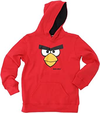 Angry Birds Pull - Fantaisie - Molleton - Garçon - Rouge - 8 ans