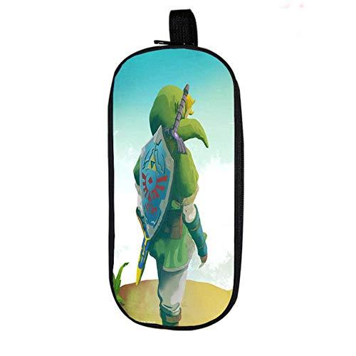 Twhoixi The Legend of Zelda Estuche de lápices Link Niños Niños Niñas Útiles Escolares Bolso Lindo de Doble Capa para niños Adolescentes