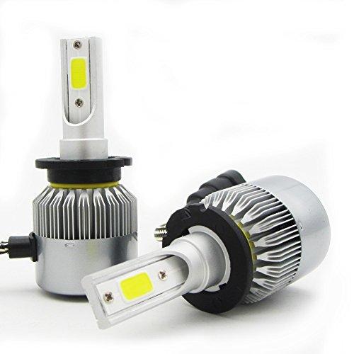 D2SD4S Lampadine per fari LED-Fascio alto/basso 55W 20000LM / set 6000K Cool White-1x Pair (2pcs)