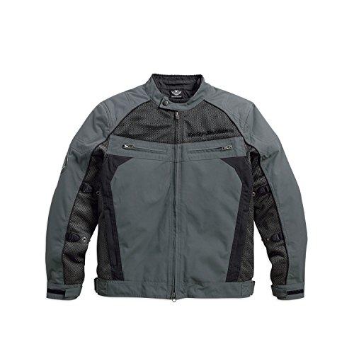 Harley-Davidson Utilitarian Textile/Mesh Riding Jacket 97124-16VM Herren Outerwear, grau/schwarz, XL (Mesh-herren-motorrad-jacke)