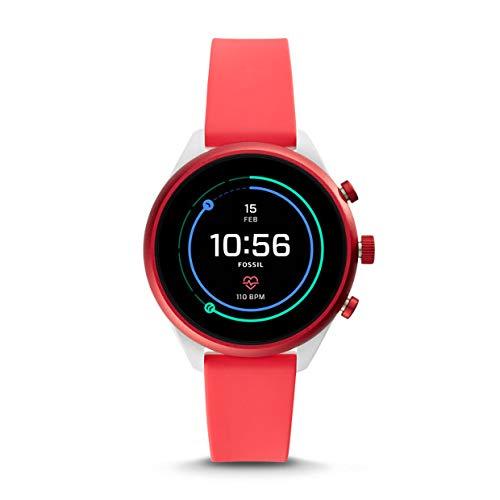 Fossil Sport FTW6027 - Reloj Inteligente Unisex (Silicona), Color Rojo