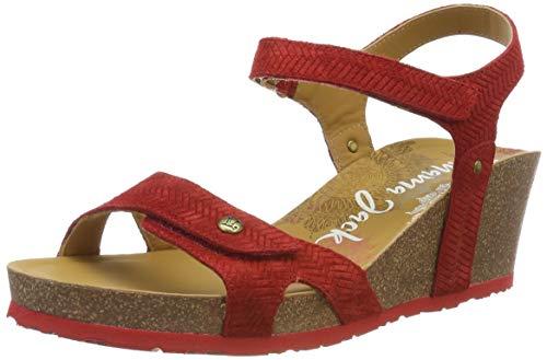 b5e493d9cb9 Panama Jack Julia Menorca, Sandalia con Pulsera para Mujer, (Rojo B1),