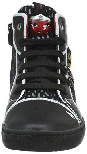 Geox Kiwi A, Sneakers Hautes Fille Schwarz (BLACKC9999)