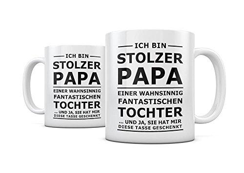 Geschenkedirekt Tasse mit Spruch STOLZER PAPA, STOLZE MAMA Kaffeetasse Kaffeebecher Kaffeepot Frühstückstasse Bürotasse, Motiv:Motiv 01