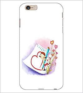 PrintDhaba Heart D-2233 Back Case Cover for APPLE IPHONE 6 PLUS (Multi-Coloured)