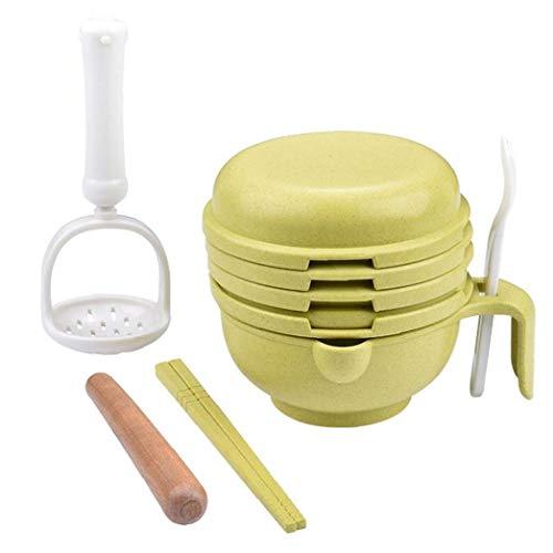 Cieelita Babynahrung Mühle Lebensmittel Stampfer Manuelle Straw Grind Lebensmittel Weizen Versatile Dish Obst Entsafter Greenpower 1Set Werkzeug