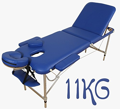 Aluminium Lightweight 11kg - 3 sections - Portable Massage Table - BLUE