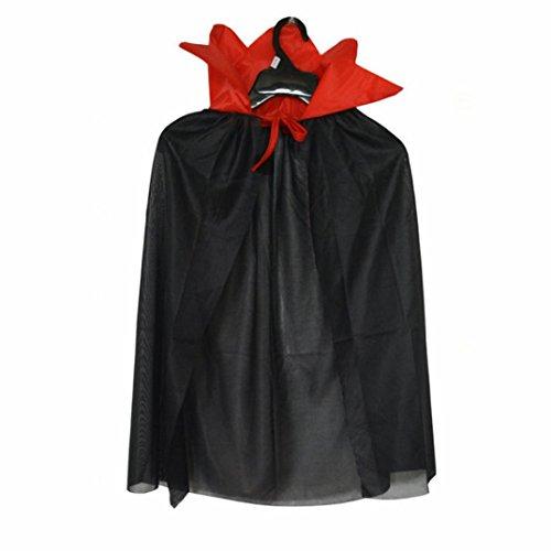 Kostüm Zauberer Hexe Mantel Cape Robe für junge Mädchen (Schwarz) (Halloween Kostüme Für Jungen 2017)