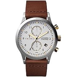 TRIWA Ivory Lansen Chrono Armbanduhr braun/silber LCST106_CL010212