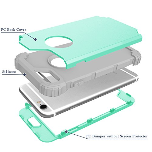 iPhone 7 Plus Case Protective, Soft Silicone Ultra Thin Impact Resistant Case Cover for iPhone 7 Plus Mint Green