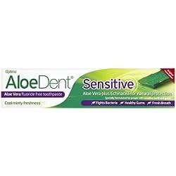 AloeDent - Sensitive - Dentifrice - Aloe vera/échinacée - Sans fluor - 100 ml - Lot de 3