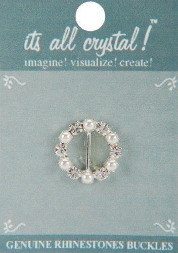 vision-trims-genuine-rhinestone-buckle-30mm-cirlce-silver-pearl-by-notions-marketing-drop-ship