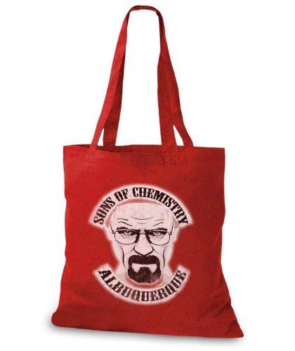 StyloBags Jutebeutel / Tasche Sons of Chemistry Albuquerque v2 Rot