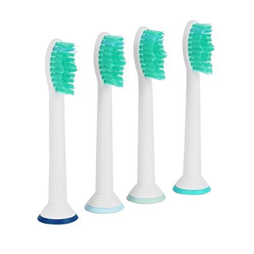 4 Stk. Aufsteckbürsten Zahnbürstenkopf Ersatzstücke kompatibel mit den elektrischer Zahnbürsten Philips Sonicare HX6014