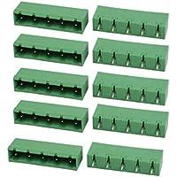 Portal Cool 10 Stücke AC 300 V 15A 7,62mm Pitch 5 P Terminal Block Draht Verbindung für PCB Montage