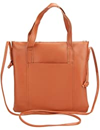 Rrimin Women Portable Shoulder Bag Tote Bag Crossbody Bag PU Leather Handbag