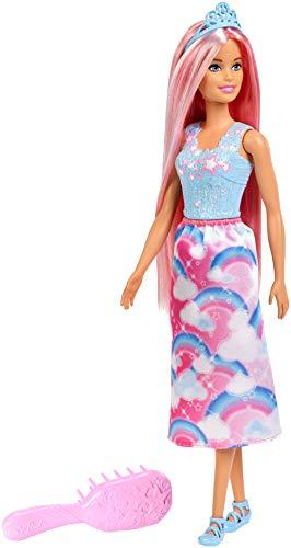 Barbie FXR94 - Dreamtopia Zauberhaar Königreich Prinzessin Puppe mit pinken Haaren, Puppen Spielzeug und Puppenzubehör ab 3 Jahren -