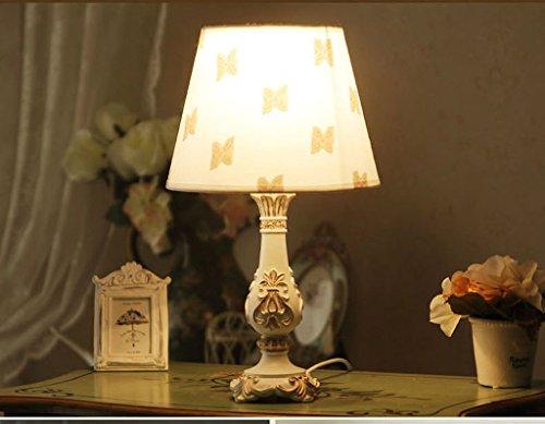 wysm Continentale dell'America moderno semplice Garden Studio Camera da letto Comodino Dresser Hollow resina decorativa piccola lampada ( colore : Interruttore a pulsante )
