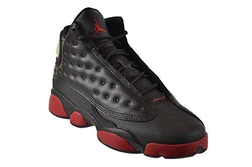 Nike - Air Jordan 13 Retro BG, Scarpe sportive Bambino black/gym red-black